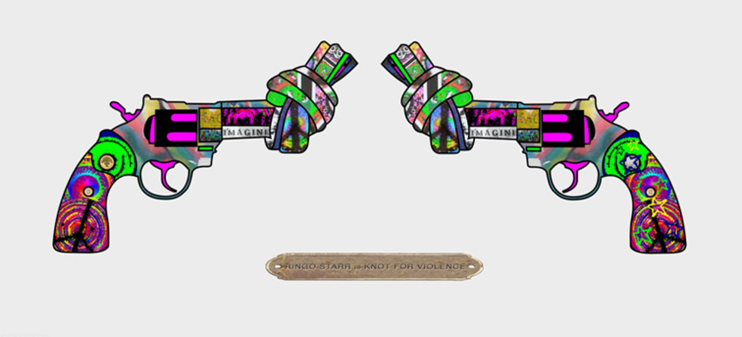 Knot For Violence (Double Guns) - Limited Art Print by Ringo Starr