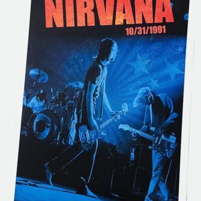 Nirvana - Live At The Paramont 1991 Poster by Karen Mason Blair