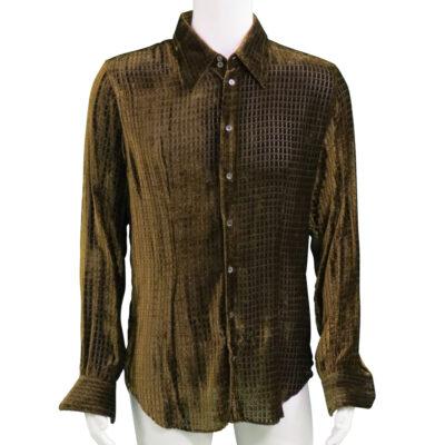 Steven Tyler worn Brown Velvet Shirt