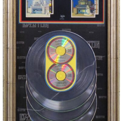 The Song Remains The Same RIAA Platinum Award Presented To Robert Plant