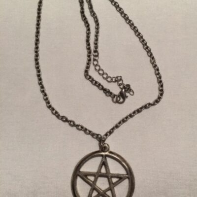Silver Star of David Necklace owned and worn by legendary Bon Scott