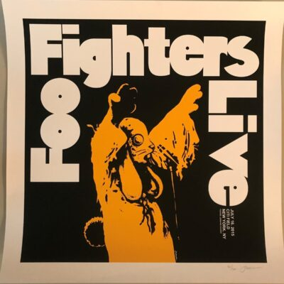 Foo Fighters Live 2015 Citi Field, New York, NY - Limited Edition Concert Poster by Jermaine Rogers