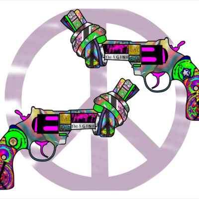 Knotted Peace Gun - Limited Art Print by Ringo Starr