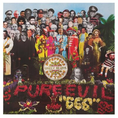 """""""SERGEANT PEPPERS LONELY HEARTS CLUB BASTARDS"""" FINE ART PRINT BY PURE EVIL"""