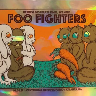Jermaine Rogers - Foo Fighters Olypic Park, Atlanta 10.04.15 - Limited Concert Poster