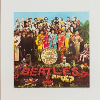 """The Beatles """"Sgt. Peppers Lonely Heart Club Band"""" Limited Fine Art Print Signed by Peter Blake"""