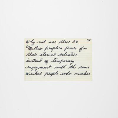 "Handwritten Speech ""Message to the Blackman in America"" by Legendary Muhammad Ali"