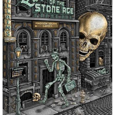 "EMEK - 2017 Queen of the Stone Age ""NYC Street Walker"" - MSG Silkscreen Poster"