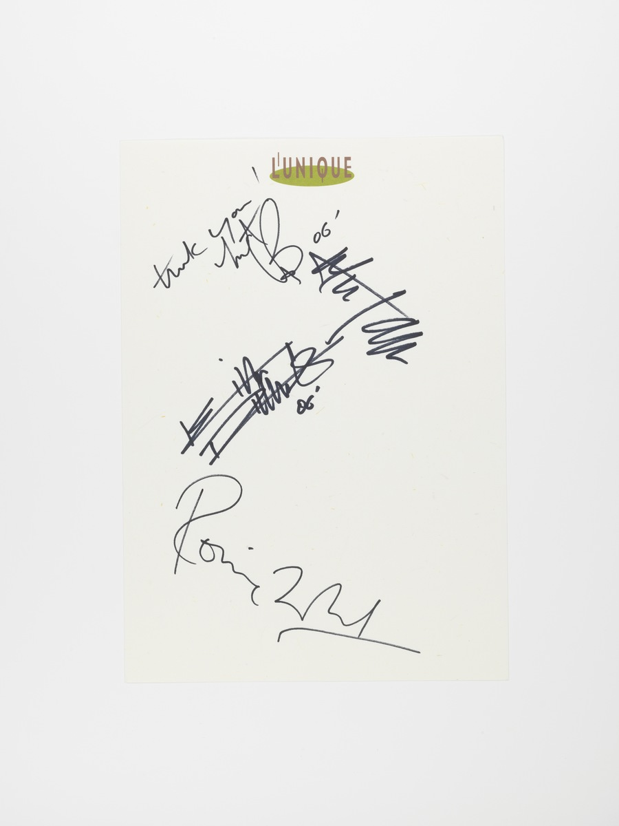 Signed L'UNIQUE paper by The Rolling Stones