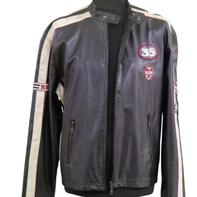 Black Leather Jacket Redsquad, worn on Stage by Rod Stewart