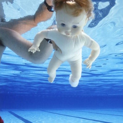 Nirvana Nevermind cover baby stunt double