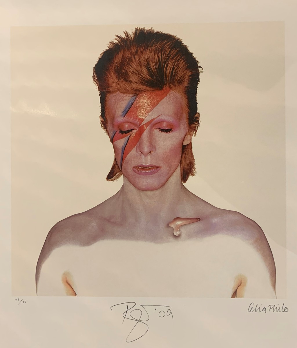 David Bowie - Aladdine Sane Limited Fine Art Print Signed by David Bowie & Celia Philo In Pencil