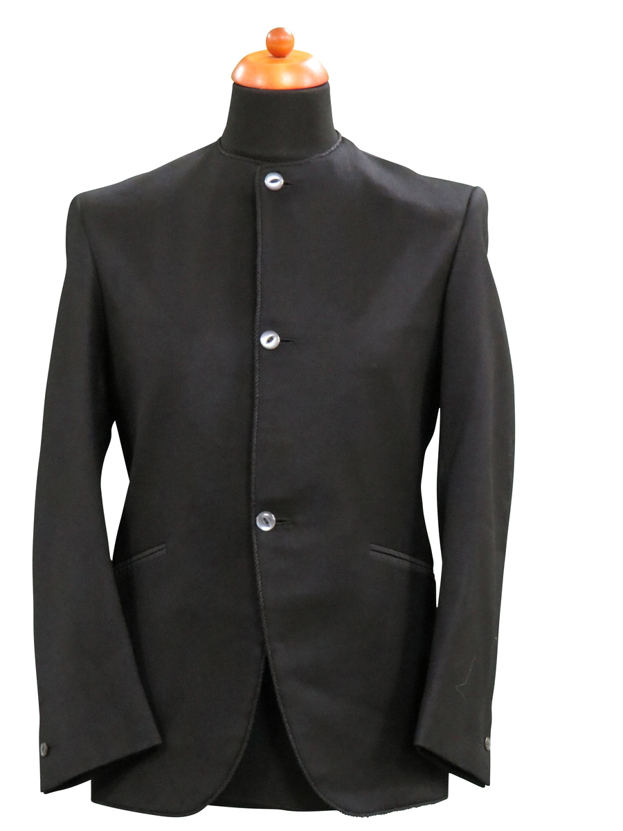 Collarless Black Jacket Owned and worn by Paul McCartney