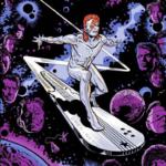 "EMEK - 2019 ""Silver Starman"" (In Z-Formation) David Bowie Silkscreen Poster"