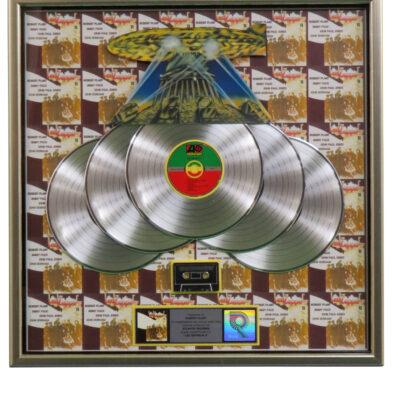 Led Zeppelin RIAA Multiplatinum Award Presented To Robert Plant