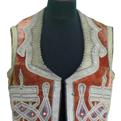 Indian red Vest owned and worn by Jimi Hendrix