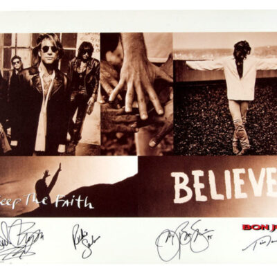 """Bon Jovi - """"Keep The Faith"""" Limited Edition Art Print - Signed by all Band members"""