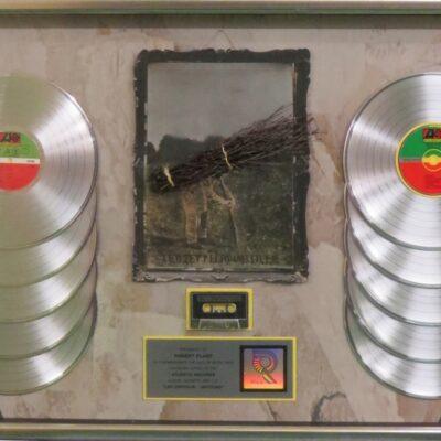 RIAA Award Multi-Platinum presented to Robert Plant