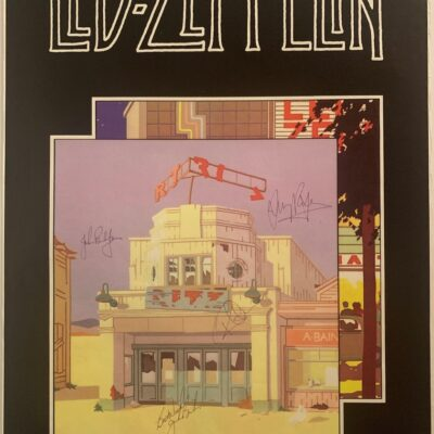 """Led Zeppelin """"The Song Remains The Same"""" - Promo Poster Signed by Led Zeppelin"""