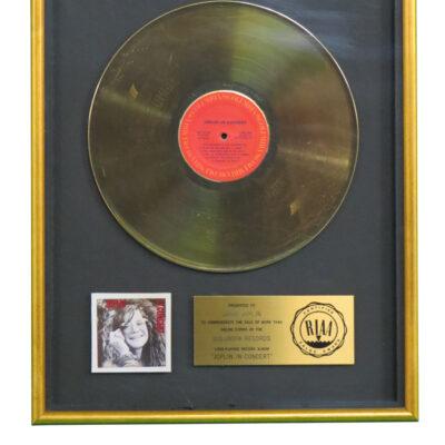 Joplin In Concert RIAA Gold Award Presented To Janis Joplin