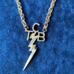 """""""TCB"""" Necklace in Sterling-Silver, gold plated owned by Elvis Presley"""