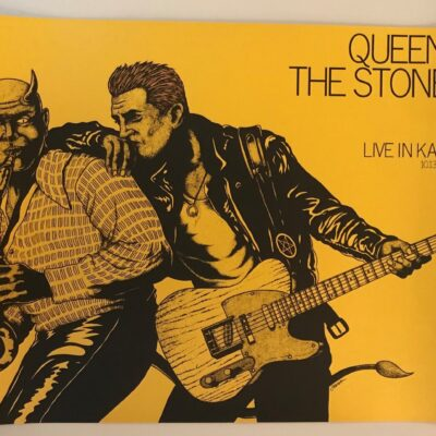 Jermaine Rogers - 2017 Queens of the Stone Age Gold Edition Concert Poster