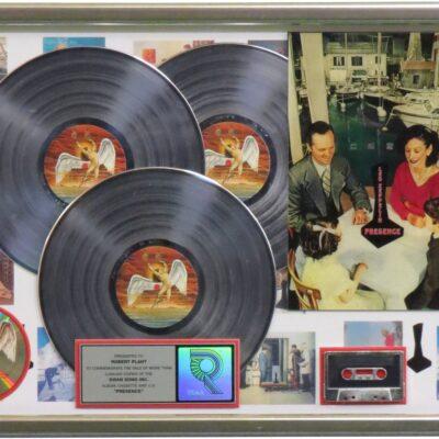 Presence RIAA Multi Platinum Award Presented To Robert Plant