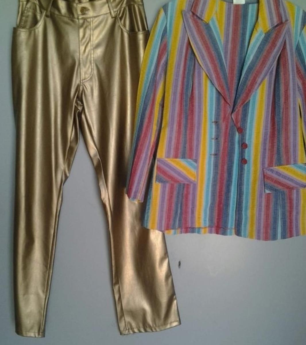 David Bowie worn Golden Pants and Color Jacket