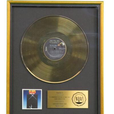 Moody Blue RIAA Gold Award Presented To Elvis Presley