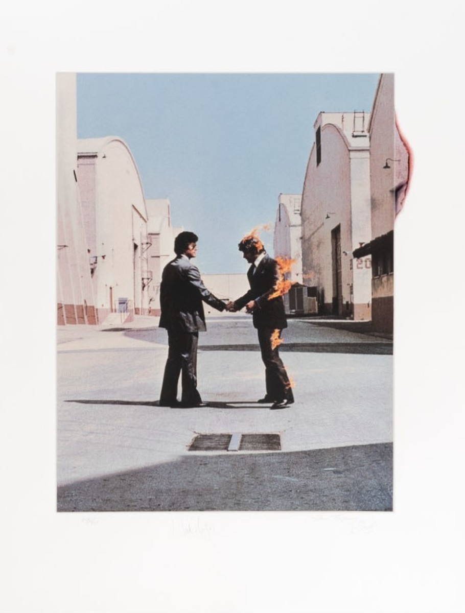 """Pink Floyd """"Wish You Were Here"""" Limited Fine Art Print - Signed by Storm Thorgerson"""