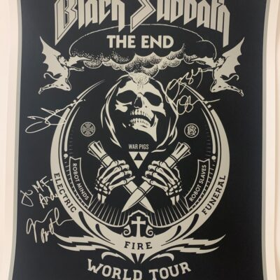 Black Sabbath - The End, World Tour Poster - Personalized and Signed by Black Sabbath