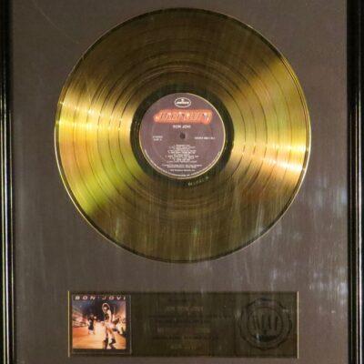 Debut Album RIAA Gold Award Presented to Bon Jovy