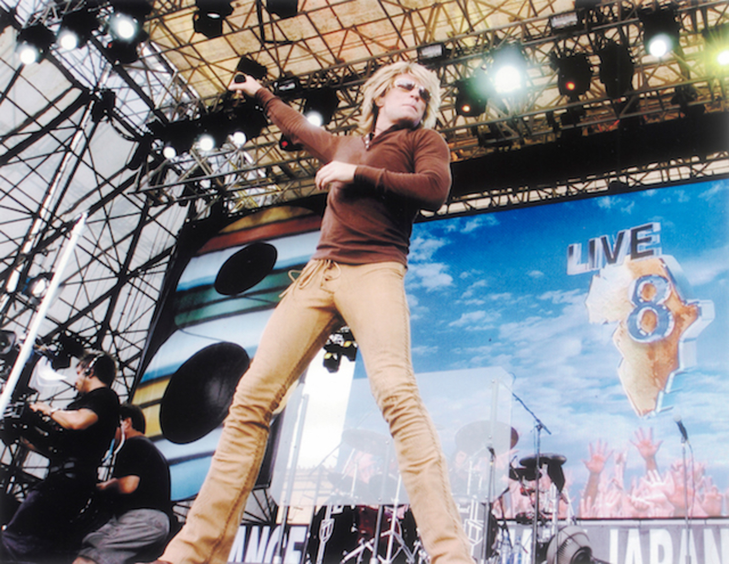 Brown Leatherpants Custom Made and Worn at the Live8 Benefit Concert by Jon Bon Jovi