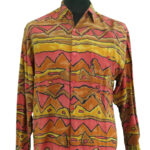 Orange/red Patterned Shirt owned and worn by Jimi Hendrix