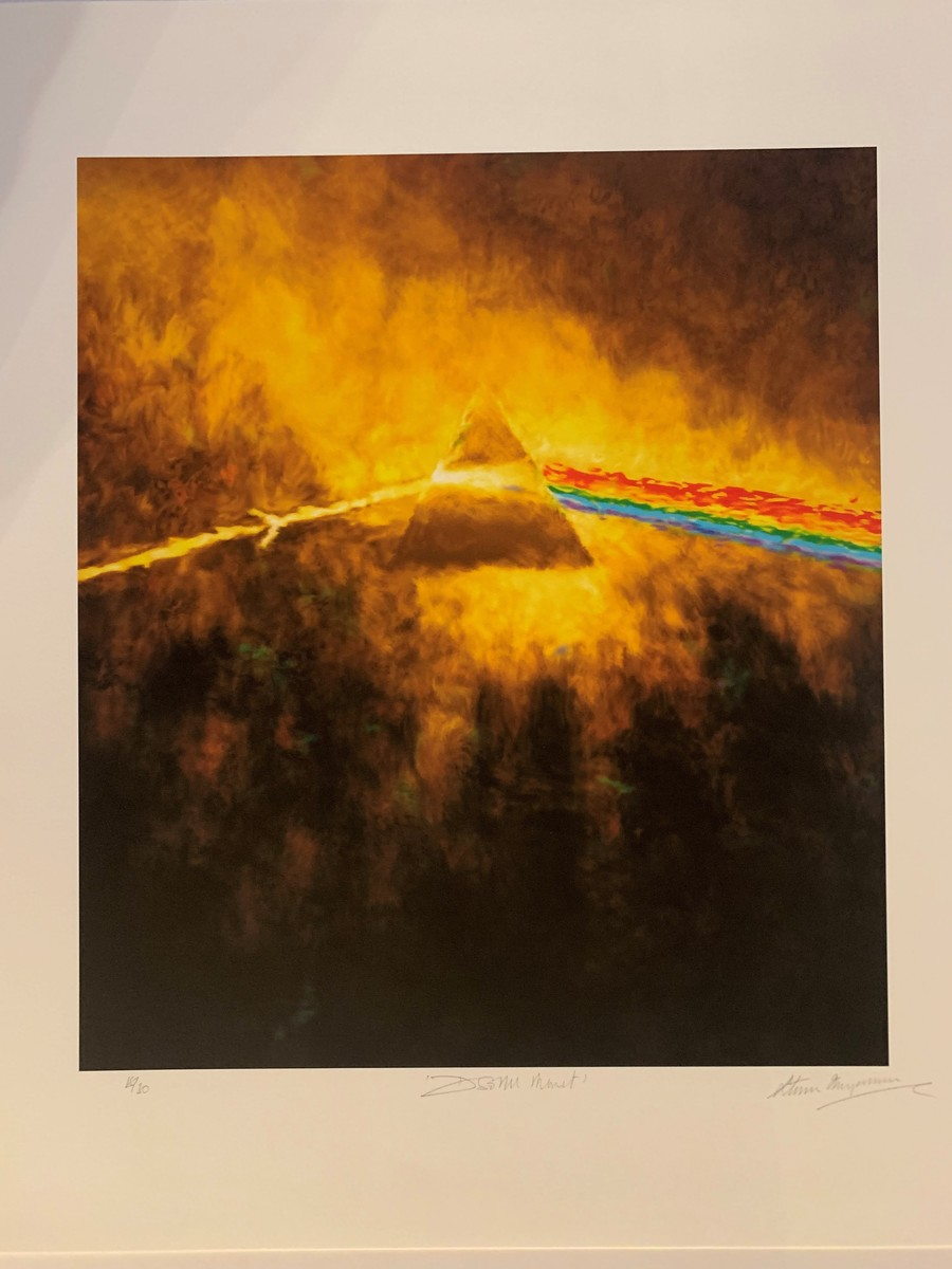"""Pink Floyd """"The Dark Side Of The Moon Monet Triptych"""" - Signed by Storm Thorgerson"""