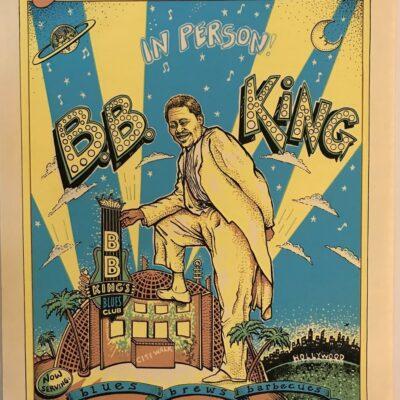 EMEK - 1994 B.B. King's Blues Club - Los Angeles Silkscreen Poster