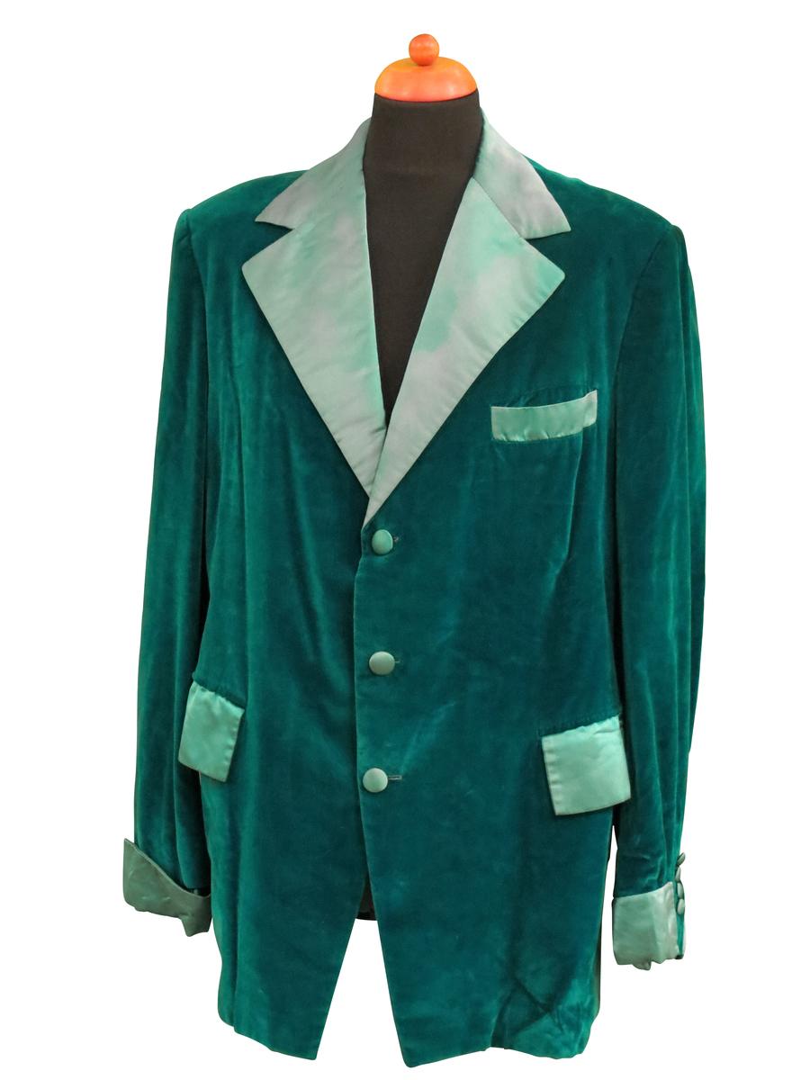Custom Green Velvet Tuxedo Stage and Music Video Worn by Barry White