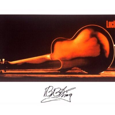 """BB KING """"LUCILLE GUITAR"""" LIMITED EDITION FINE ART PRINT - HAND SIGNED BY BB KING"""