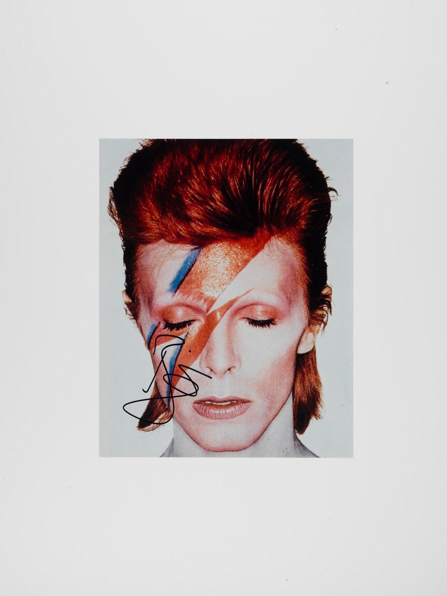 """Aladdin Sane"" Color Art Print Signed by David Bowie"