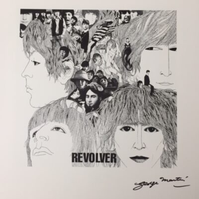 """The Beatles """"Revolver"""" Fine Art Print by Klaus Voormann - Signed by George Martin"""