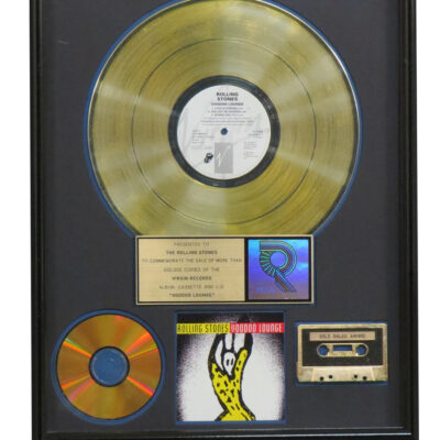 Voodoo Lounge RIAA Gold Award Presented To The Rolling Stones
