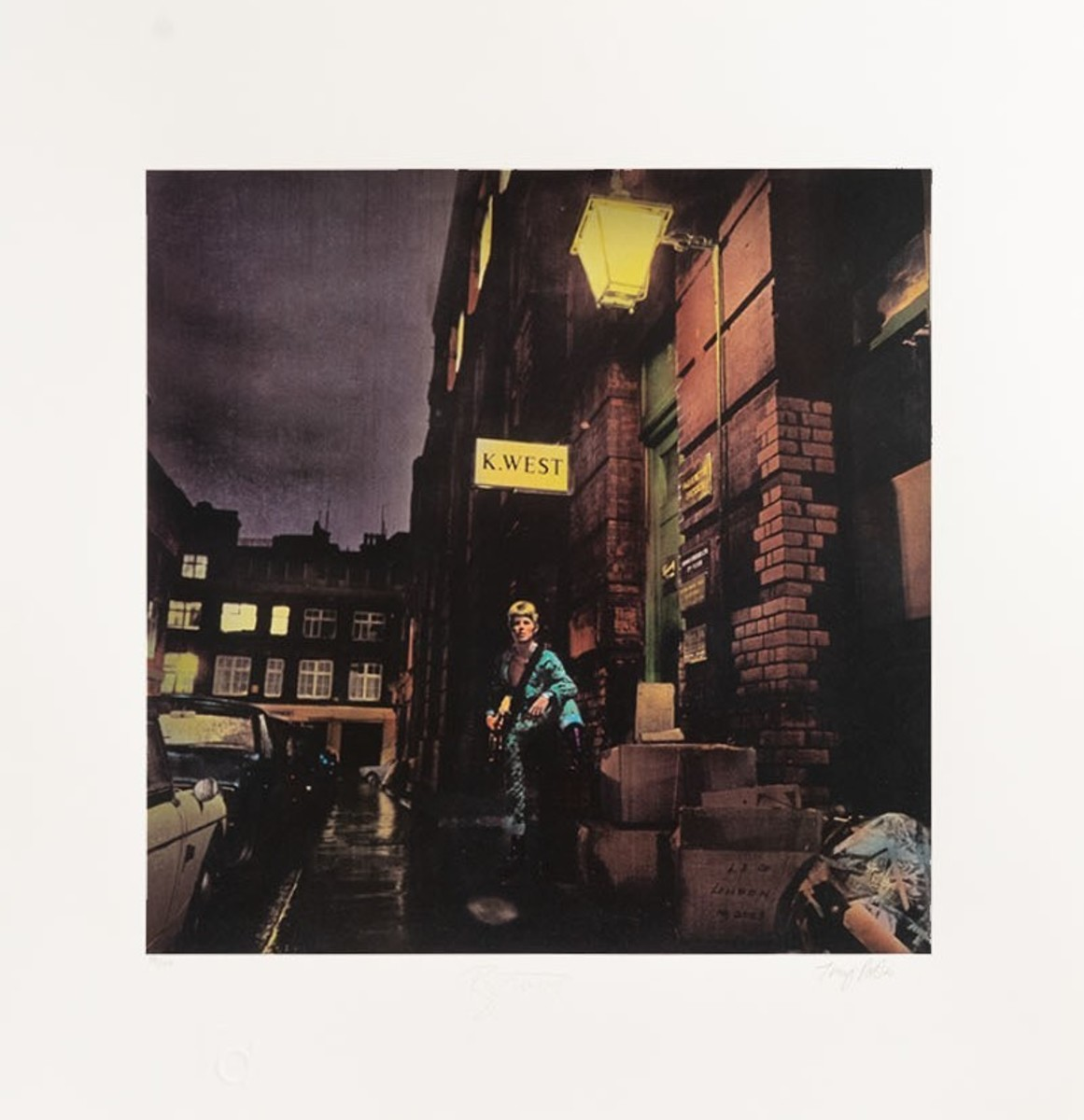 David Bowie - Ziggy Stardust Limited Edition Fine Art Print - Signed by David Bowie & Terry Pastor