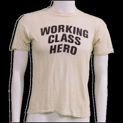 "John Lennon owned and worn ""Working Class Hero"" T-Shirt"