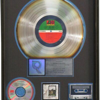 Led Zeppelin IV RIAA Platinum Award