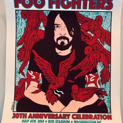Foo Fighters - 2015 20th Anniversary Celebration, RFK Stadium, Washington DC Limited Edition Concert Poster by Jermaine Rogers