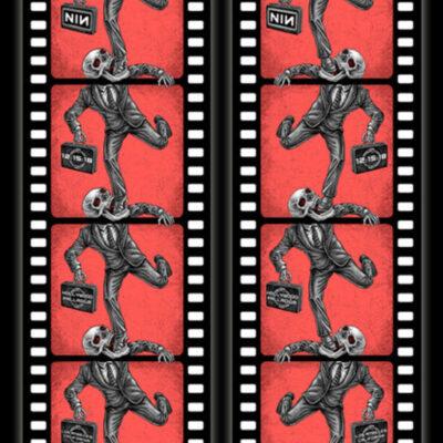 "EMEK - 2018 "" Infinite Filmstrip, Endless Cycle "" Nine Inch Nails Hollywood Palladium film foil Edition Concert Poster"