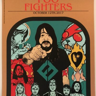 Foo Fighters - 2017 Washington, DCI Limited Edition Concert Poster by Jermaine Rogers