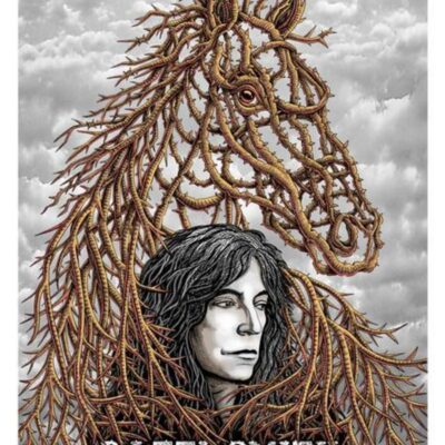 "EMEK - 2018 ""Barbed Wire"" Patti Smith Silkscreen Concert Poster"
