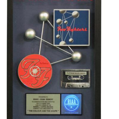 The Colorour And The Shape RIAA Platinum Award