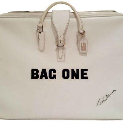 """John Lennon """"Bag One"""" Bag - White Vinyl Zippered Carrying Bag"""
